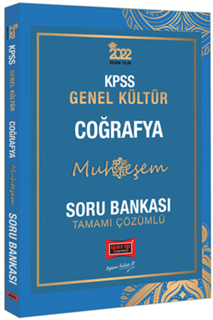 Resim 2022 KPSS Genel Kültür Muhteşem Coğrafya Tamamı Çözümlü Soru Bankası