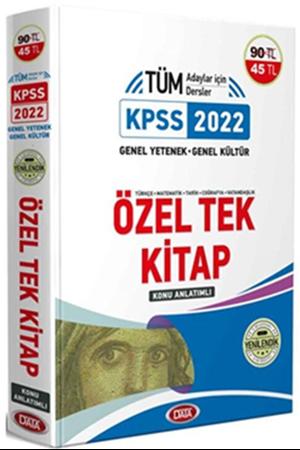 Resim 2022 KPSS Genel Yetenek Genel Kültür Özel Tek Kitap