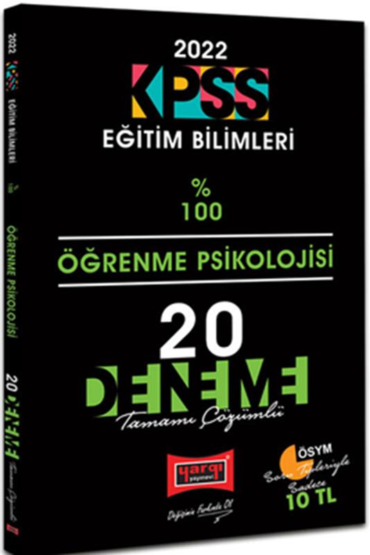 resm 2022 KPSS Eğitim Bilimleri Öğrenme Psikolojisi Tamamı Çözümlü 20 Deneme