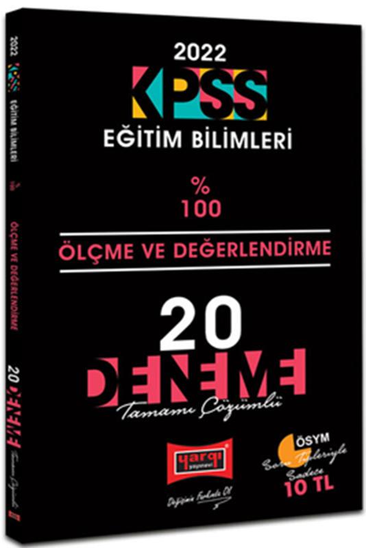 resm 2022 KPSS Eğitim Bilimleri Ölçme Ve Değerlendirme Tamamı Çözümlü 20 Deneme