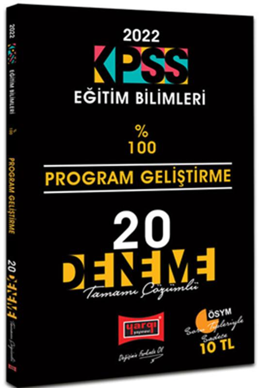 resm 2022 KPSS Eğitim Bilimleri Program Geliştirme Tamamı Çözümlü 20 Deneme