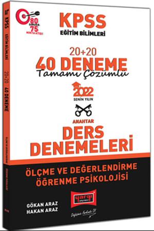 Resim 2022 KPSS Eğitim Bilimleri Ölçme ve Değerlendirme Öğrenme Psikolojisi Tamamı Çözümlü 20+20 40 Deneme