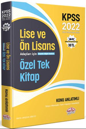 Resim 2022 KPSS Lise ve Ön Lisans Adayları İçin Özel Tek Kitap Konu Anlatımlı