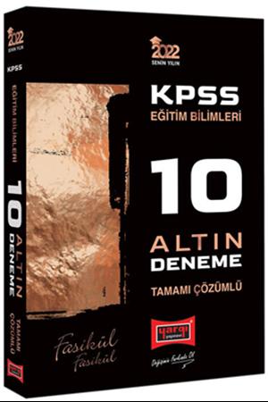 Resim 2022 KPSS Eğitim Bilimleri Tamamı Çözümlü Fasikül Fasikül 10 Altın Deneme