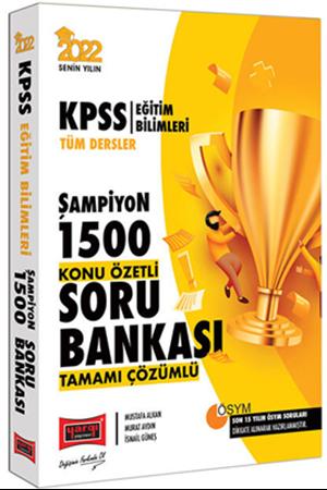 Resim 2022 KPSS Eğitim Bilimleri Tüm Dersler Şampiyon 1500 Tamamı Çözümlü Konu Özetli Soru Bankası