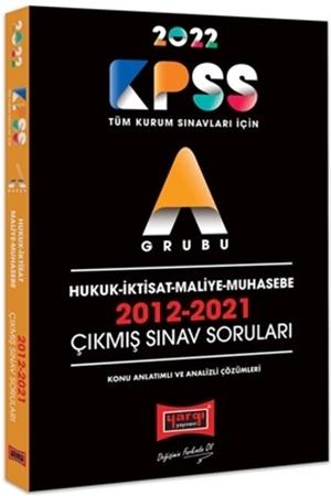 Resim 2022 KPSS A Grubu Hukuk İktisat Maliye Muhasebe 2012-2021 Çıkmış Sınav Soruları