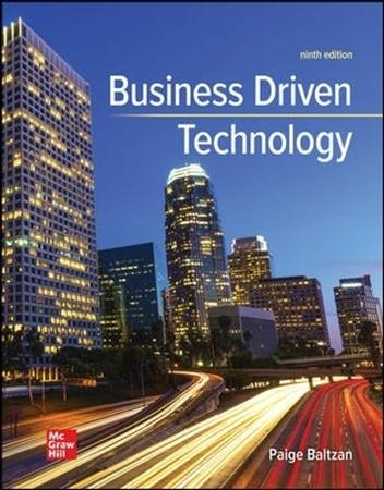 Resim Connect Online Access For Baltzan Business Driven Technology 9e