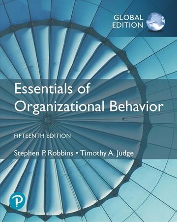 Resim Essentials of Organizational Behavior 15e